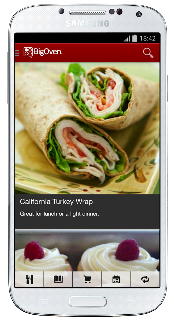 Android recipes and grocery app bigoven and chosen one of the best apps for foodies best apps for new moms and best app for eating in by time newsweek and the new york times forumfinder Image collections