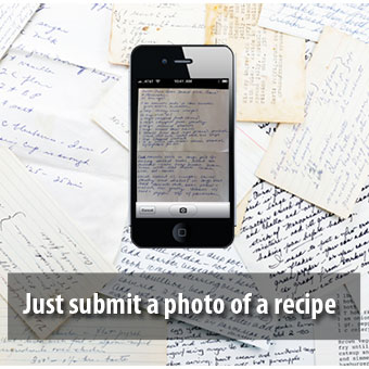 Just submit a photo of the recipe